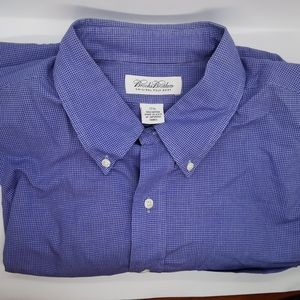 Brooks brothers blue check dress shirt